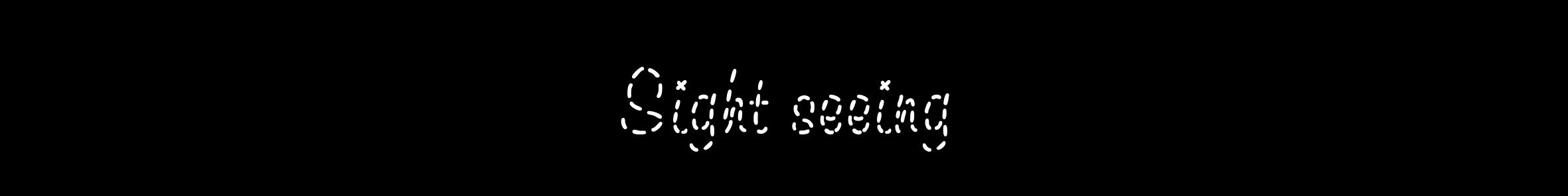 sight seeing